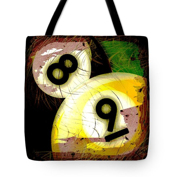 Abstract Eight and Nine Billiard Balls Tote Bag by David G Paul