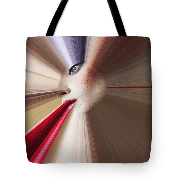 Abstract Face Tote Bag by Garry Gay