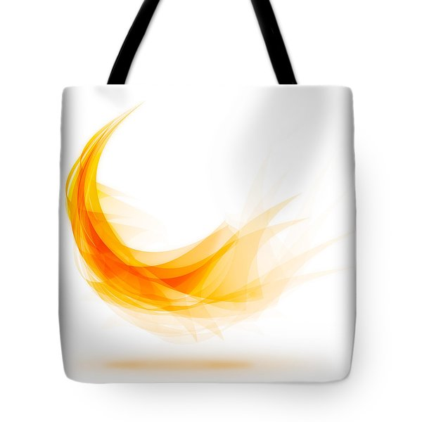 Abstract Feather Tote Bag by Setsiri Silapasuwanchai