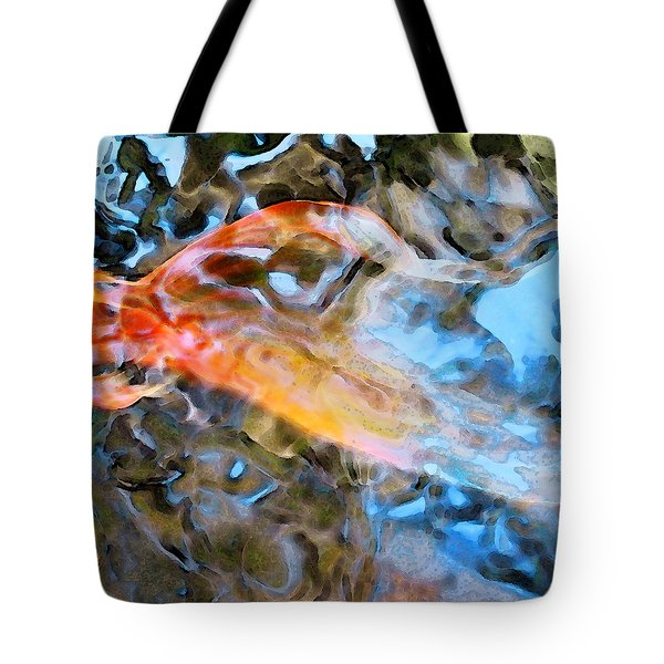 Abstract Fish Art - Fairy Tail Tote Bag by Sharon Cummings