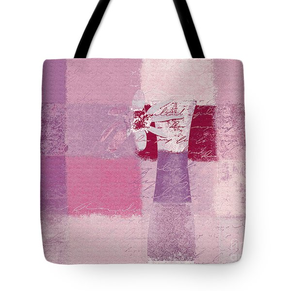Abstract Floral - 11v3t09 Tote Bag by Variance Collections