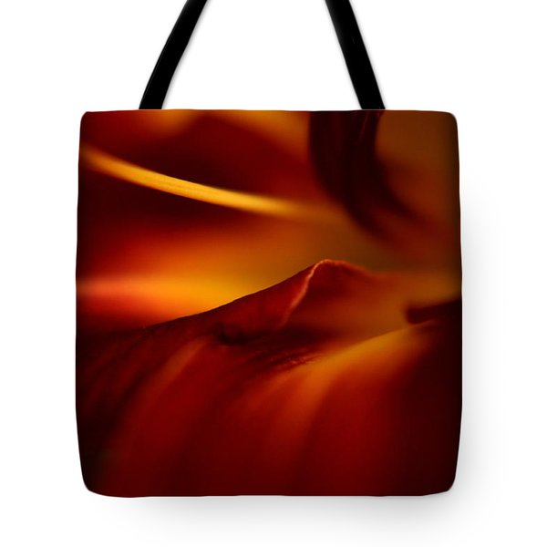 Abstract Floral Tote Bag by Floyd Menezes