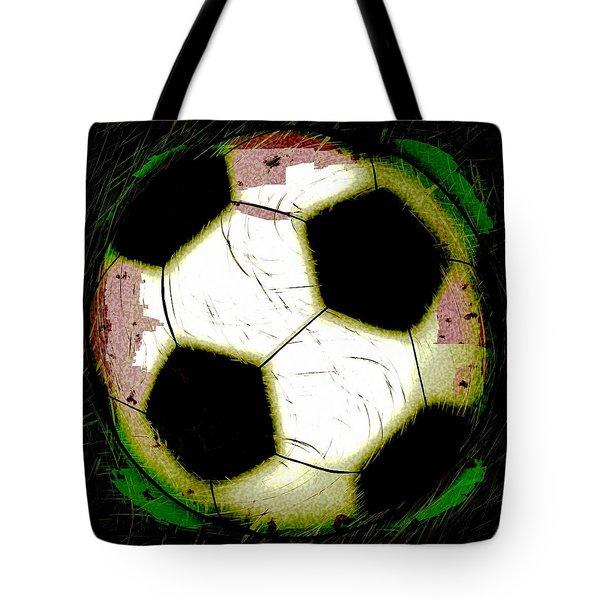 Abstract Grunge Soccer Ball Tote Bag by David G Paul