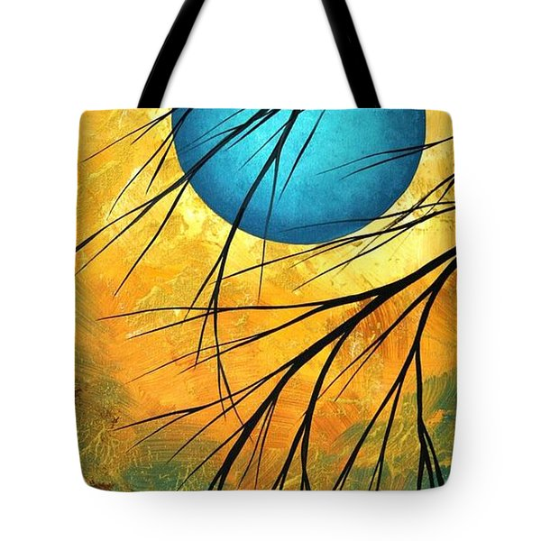 Abstract Landscape Art PASSING BEAUTY 1 of 5 Tote Bag by Megan Duncanson