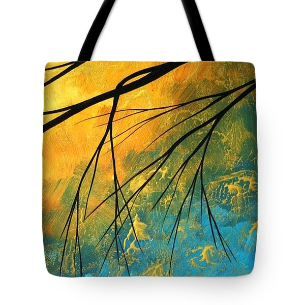 Abstract Landscape Art Passing Beauty 2 Of 5 Tote Bag by Megan Duncanson