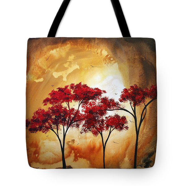 Abstract Landscape Painting Empty Nest 2 By Madart Tote Bag by Megan Duncanson