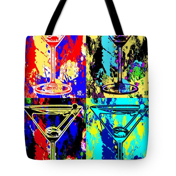 Abstract Martini's Tote Bag by Jon Neidert