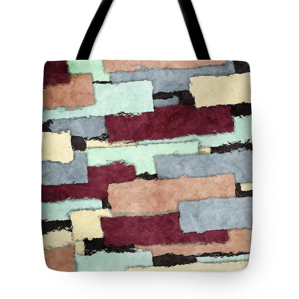 Abstract Patchwork Tote Bag by Phil Perkins