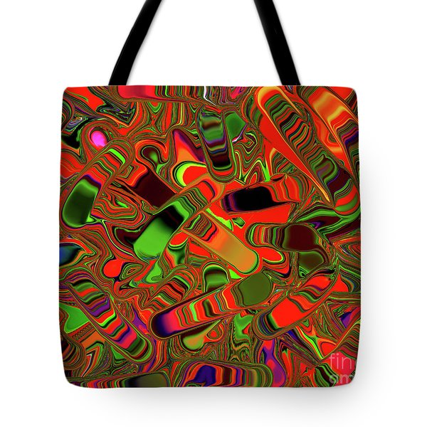 Abstract Rainbow Slider Explosion Tote Bag by Andee Design