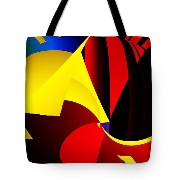 Abstract Red And Yellow Tote Bag by David Lane