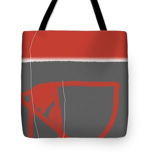 Abstract Red Tote Bag by Naxart Studio