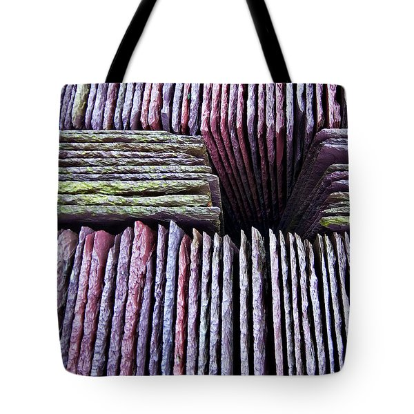 abstract slate pile Tote Bag by Meirion Matthias