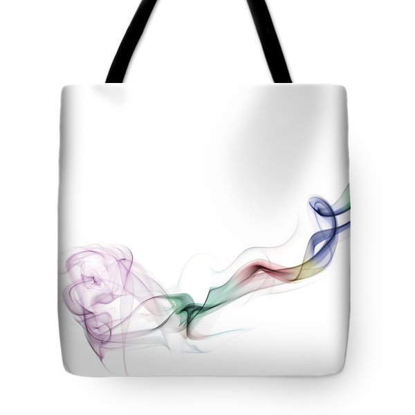 Abstract Smoke Tote Bag by Setsiri Silapasuwanchai