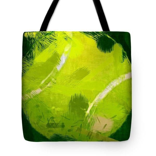 Abstract Tennis Ball Tote Bag by David G Paul