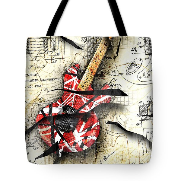 Abstracta 35 Eddie's Guitar Tote Bag by Gary Bodnar