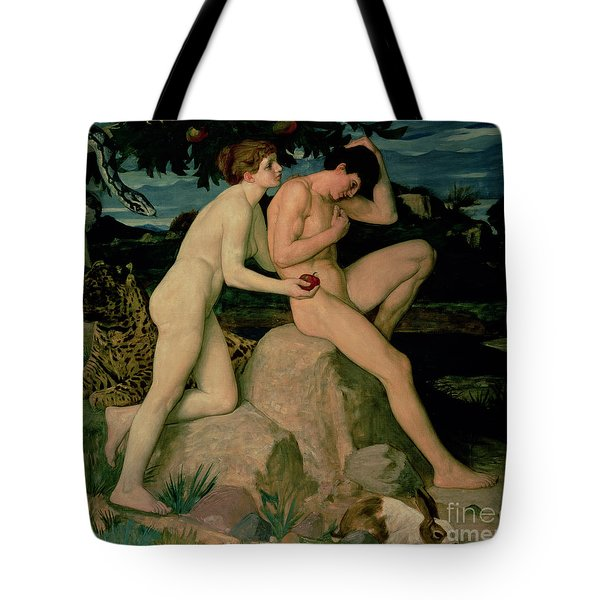 Adam And Eve  Tote Bag by William Strang