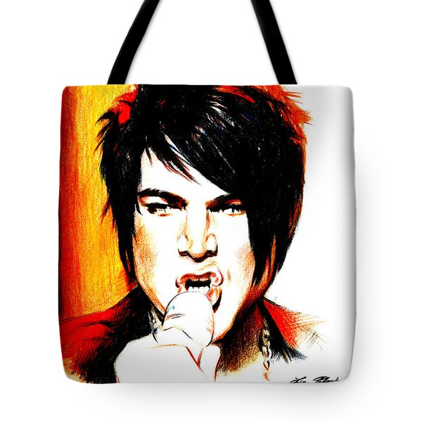 Adam Lambert Tote Bag by Lin Petershagen