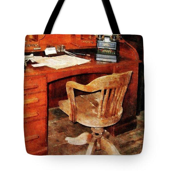 Adding Machine Tote Bag by Susan Savad