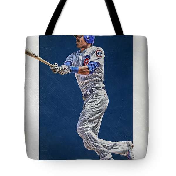 Addison Russell Chicago Cubs Art Tote Bag by Joe Hamilton