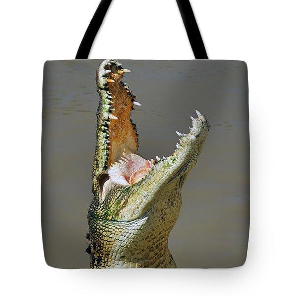 Adelaide River Crocodile Tote Bag by Bill  Robinson