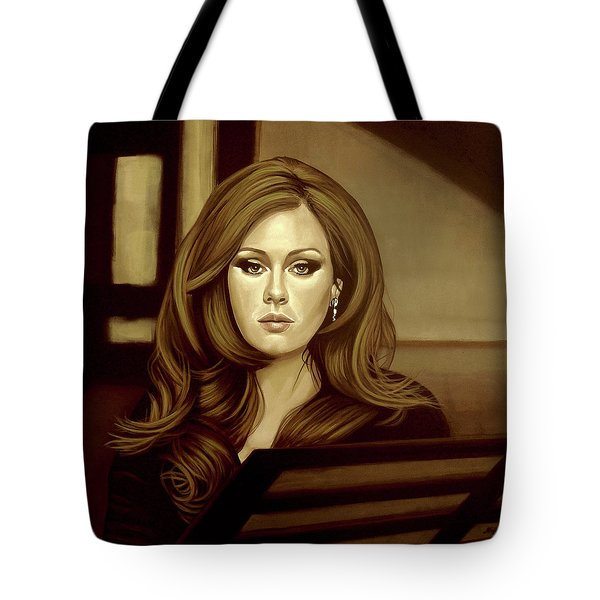 Adele Gold Tote Bag by Paul Meijering