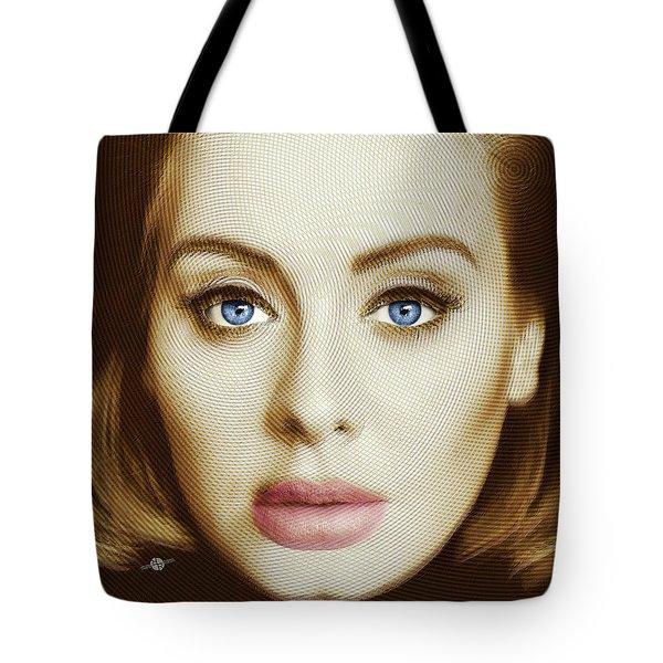 Adele Painting Circle Pattern 2 Tote Bag by Tony Rubino