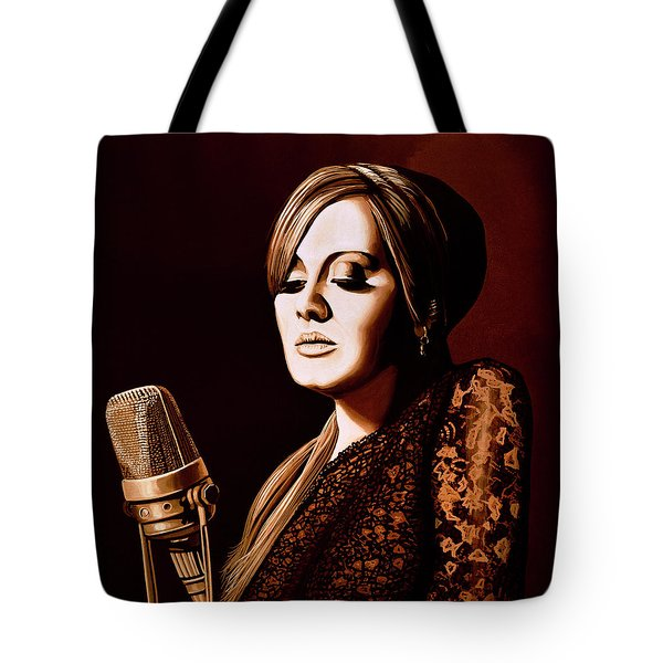 Adele Skyfall Gold Tote Bag by Paul Meijering