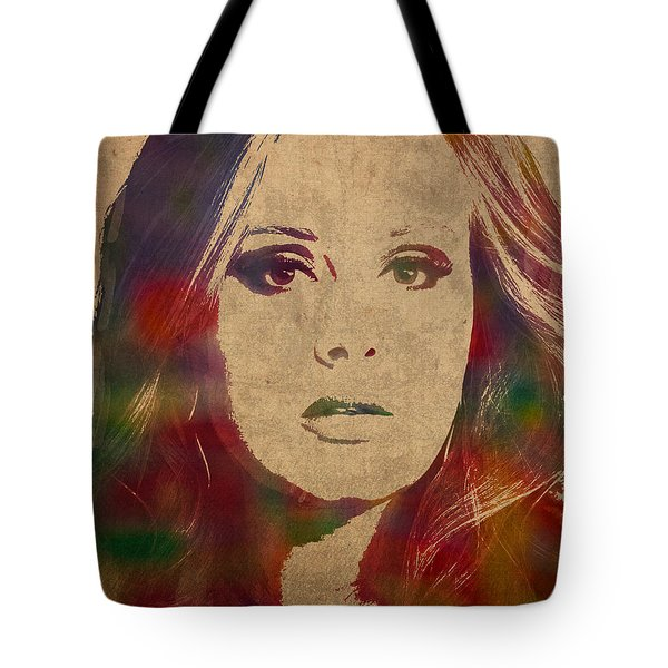 Adele Watercolor Portrait Tote Bag by Design Turnpike