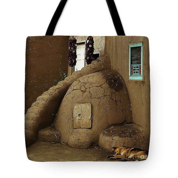 Adobe Oven Tote Bag by Angela Wright