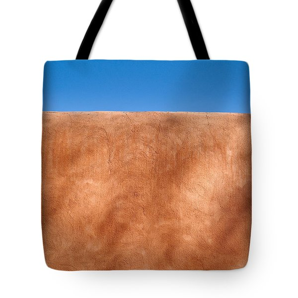 Adobe Wall Santa Fe Tote Bag by Steve Gadomski