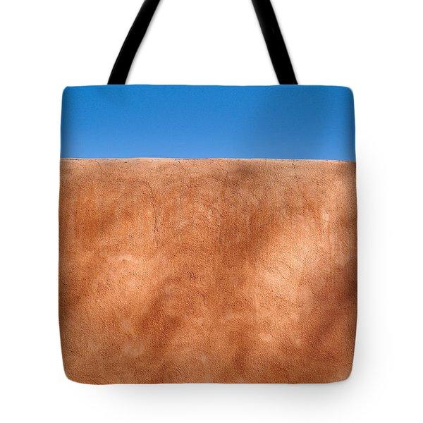Adobe Wall Santa Fe Tote Bag by Steve Gadomski
