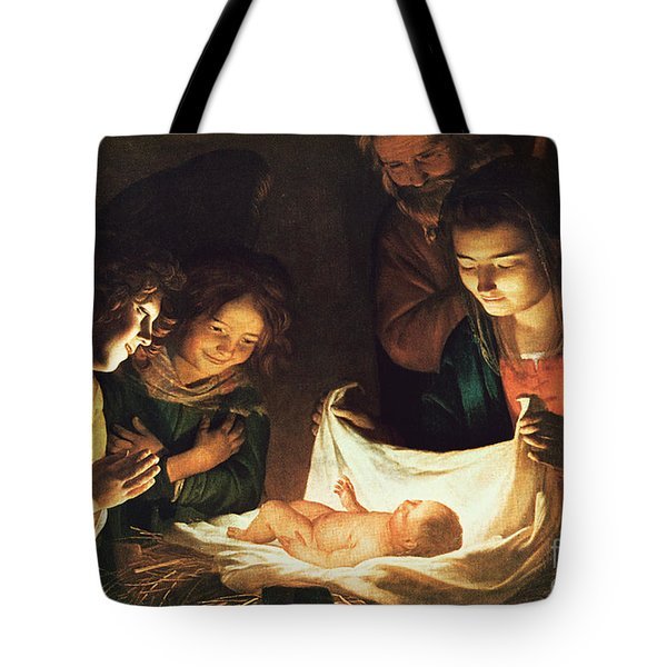 Adoration Of The Baby Tote Bag by Gerrit van Honthorst