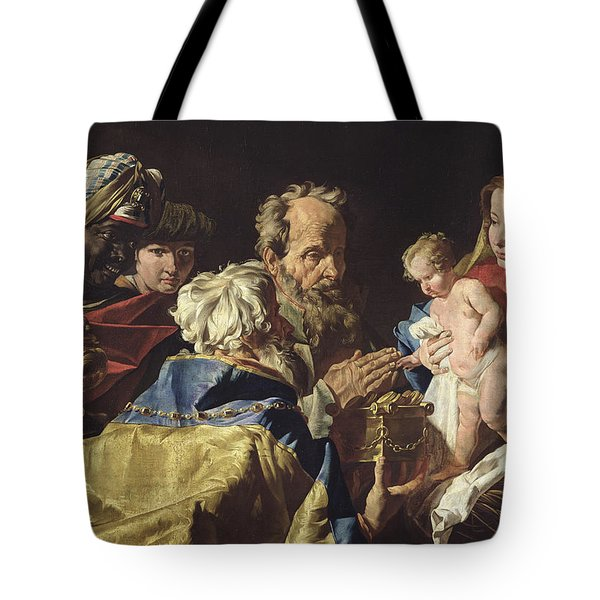 Adoration Of The Magi  Tote Bag by Matthias Stomer