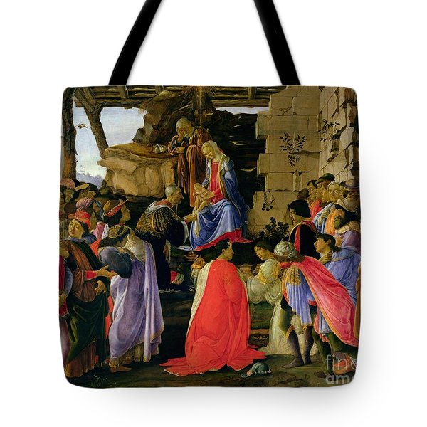 Adoration Of The Magi Tote Bag by Sandro Botticelli