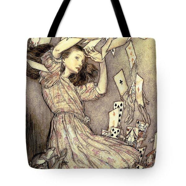 Adventures In Wonderland Tote Bag by Arthur Rackham