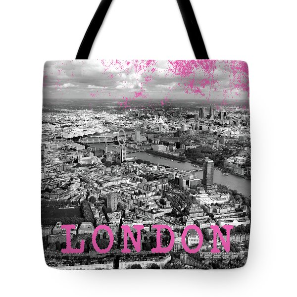 Aerial View Of London Tote Bag by Mark Rogan