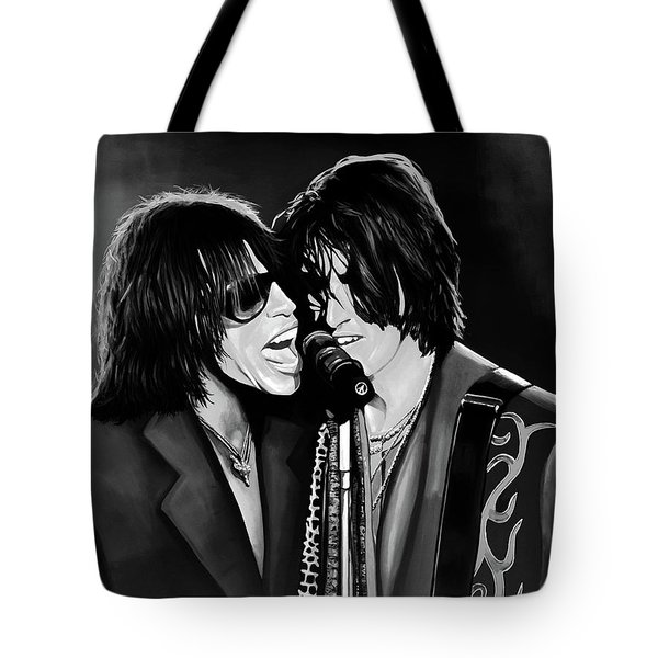 Aerosmith Toxic Twins Mixed Media Tote Bag by Paul Meijering