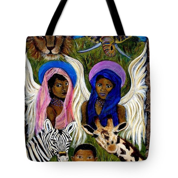 African Angels Tote Bag by The Art With A Heart By Charlotte Phillips