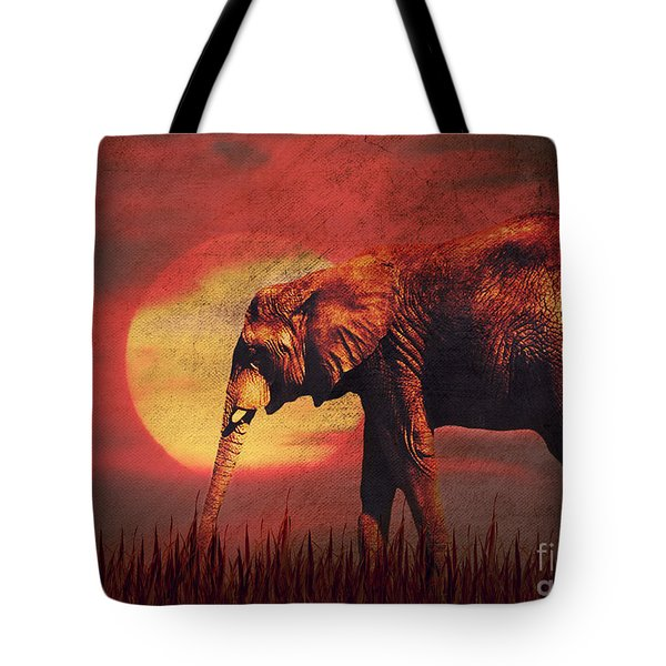African Elephant Tote Bag by Angela Doelling AD DESIGN Photo and PhotoArt