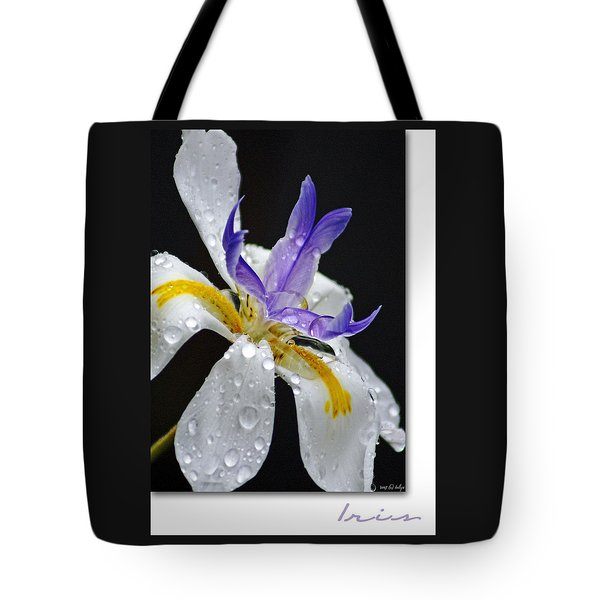 African Iris Tote Bag by Holly Kempe