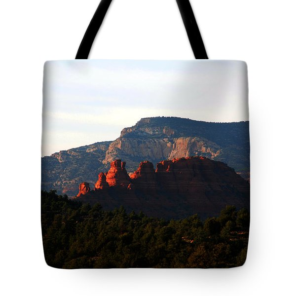 After Sunset In Sedona Tote Bag by Susanne Van Hulst
