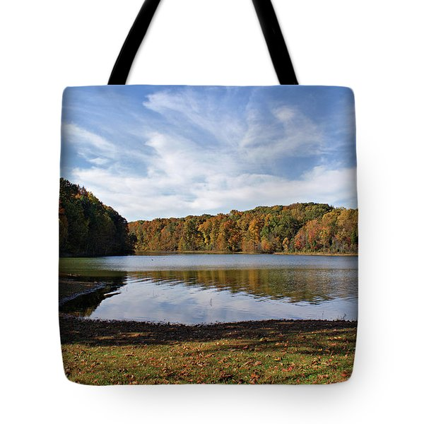 Afternoon At The Lake Tote Bag by Sandy Keeton