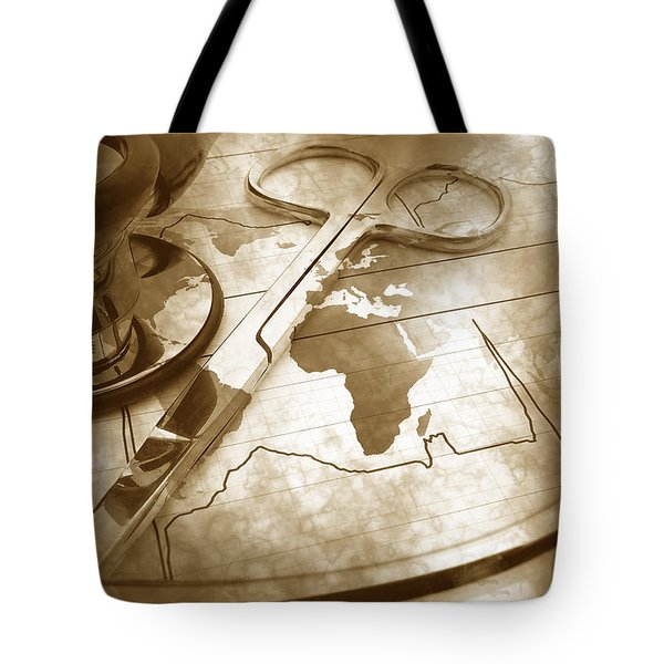 Aged Medical Tools Tote Bag by Phill Petrovic