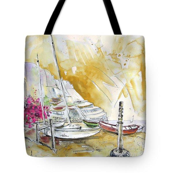 Agua Amarga 13 Tote Bag by Miki De Goodaboom