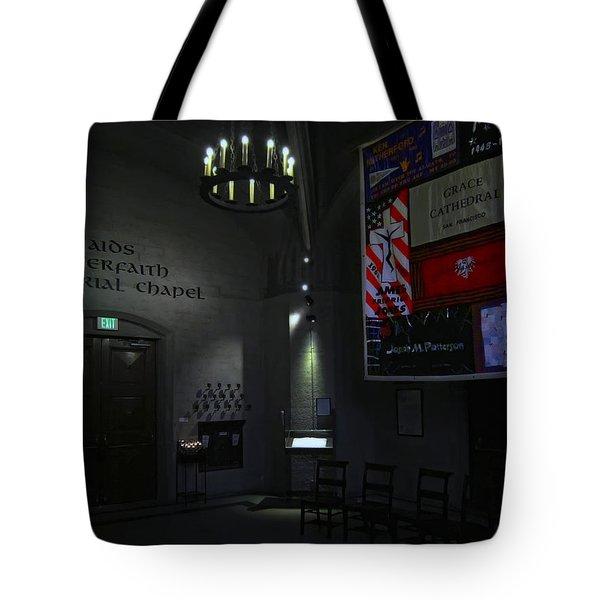 Aids Interfaith Memorial Chapel - San Francisco Tote Bag by Daniel Hagerman