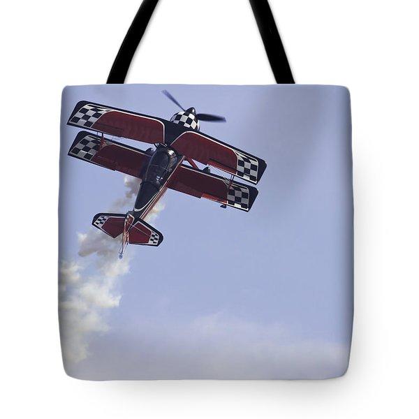 Airplane Performing Stunts At Airshow Photo Poster Print Tote Bag by Keith Webber Jr