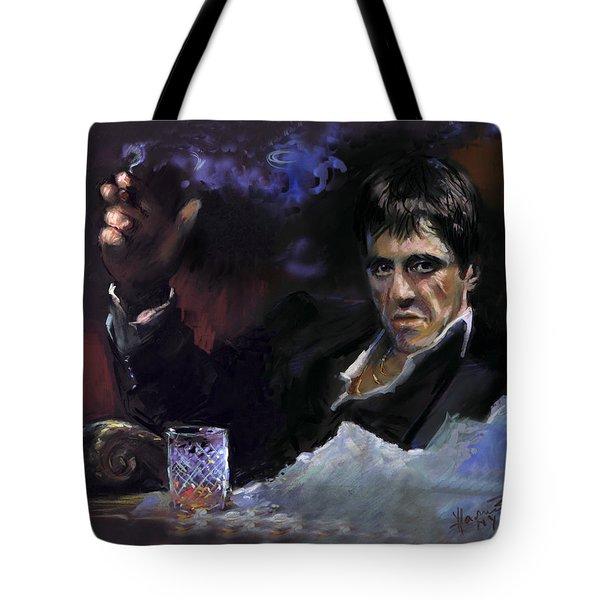 Al Pacino Snow Tote Bag by Ylli Haruni