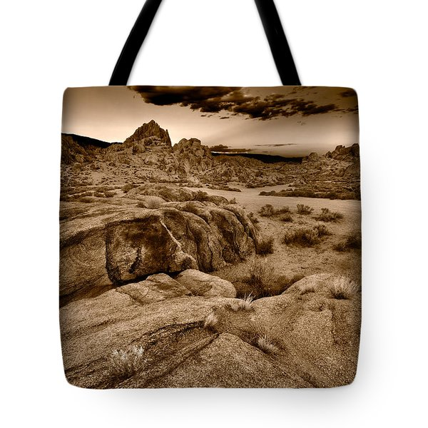 Alabama Hills California B W Tote Bag by Steve Gadomski