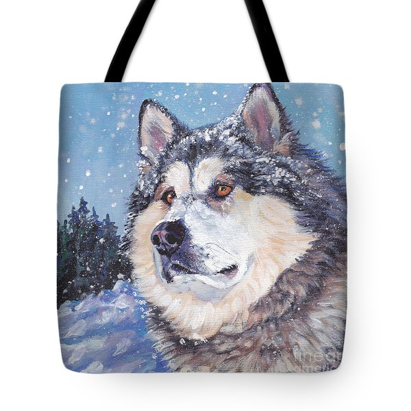 Alaskan Malamute Tote Bag by Lee Ann Shepard