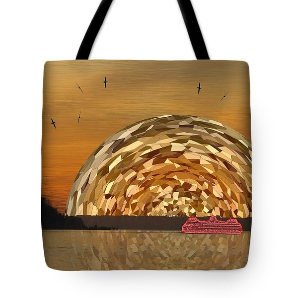 Albatross Setting Tote Bag by Tim Allen